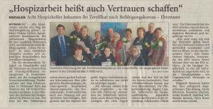 2017-11-28-Zeitungsartikel-Zertifikatuebergabe-Hospizhelfer-AfH
